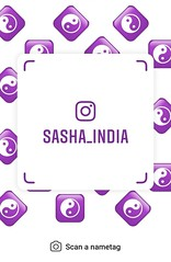 example of nametag for Instagram (Sasha India) Tags: instagram nametag instatag tag name sashaindia дизайн qrcode design 設計 디자인 التصميم σχέδιο डिज़ाइन வடிவமைப்பு desenhar projekt עיצוב desain yinyang