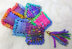 polymer clay and yarn beads (klio1961) Tags: authentic artesania arcillapolimerica arcoiris beads beautiful cernit clay squarebeads unique jewelry rainbow unico imadeit imadethis oneofakind original polymerclay premo pardo polymer lightweight katoclay joyas joyeria handmade hechoamano handmadebeads fimo faux focalbeads diaxeiros xeiropoiito xantres vividcolors verano blue necklace nicelittlethings madebyme multicolor