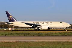 Saudi Arabian Cargo  Boeing 777-FFG HZ-AK73 (widebodies) Tags: maastricht mst ehbk widebody widebodies plane aircraft flughafen airport flugzeug flugzeugbilder saudi arabian cargo boeing 777ffg hzak73