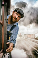 IMG_1785 CR (mike.wilson1294) Tags: railroad steam people man sky tracks portrait canon nw trains