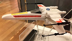 Close-up of an X-Wing fighter at #MayTheToysBeWithYou, Torquay Museum 19.08.17 (Trevor Bruford) Tags: star wars toy figure exhibition torquay museum maythetoysbewithyou