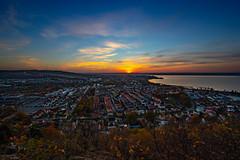 Sunset Huskvarna (christianviktorsson) Tags: canon 80d huskvarna utsikten vättern sunset town autumn 1022mm