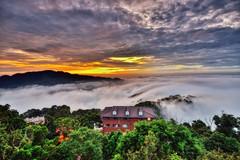 雲洞~火燒夕陽雲海~  Clouds sunset (Shang-fu Dai) Tags: 台灣 taiwan 苗栗 三義 雲洞 雲洞山莊 雲海 clouds sunset nikon d800e afs1635mmf4 夕陽 landscape 戶外 formosa 天空 日落 風景 樹 黃昏 霧