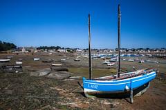 En attendant la marée haute (Nicolas Hoizey) Tags: 2470mm 5dmarkii 5d2 5dii bretagne britany canon canonef2470mmf28lusm canoneos5dmarkii cã´tesdarmor europa europe france ploumanach bateau bleu blue boat ciel longexposure mer sea sky