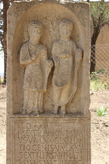 Tombstones, Roman Ruins, Timgad (Buster&Bubby) Tags: romanruins timgad trajan romanemperortrajan thamugadi jamesbruce romantombstones tombstones