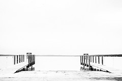 Duality (The Shutter Affair) Tags: blackandwhite blackandwhitephotography dock minimalism minimalistic water