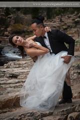 Dramatic Dip (Laura K Bellamy) Tags: bride groom wedding weddings couple bridal