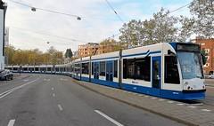 Vier op een rij (Peter ( phonepics only) Eijkman) Tags: amsterdam city combino tram transport trams tramtracks trolley rail rails detour omleiding strassenbahn streetcars nederland netherlands nederlandse noordholland holland