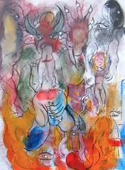 LA FESSÉE (Claude Bolduc) Tags: artsingulier outsiderart artbrut spanking rawart lowbrow krampus