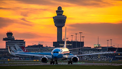 "KLM 737 at sunset • <a style=""font-size:0.8em;"" href=""http://www.flickr.com/photos/125767964@N08/45720706351/"" target=""_blank"">View on Flickr</a>"
