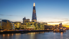 South Bank at Dusk (Rich Walker Photography) Tags: london riverthames shard cityhall architecture buildings building city cityscape cityscapes england dusk evening lights longexposure longexposures longexposurephotography landscape landscapes landscapephotography landmark landmarks canon efs1585mmisusm eos80d eos