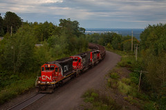 Donked on the Mountain (Nick Brown Photography) Tags: train railroad railfanning cn minnesota