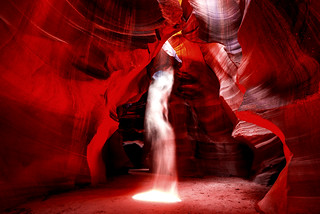 Goddess Looking to Heaven Wearing Crown of Flames!  Nikon D810 _ 14-24mm F2.8 Nikkor Zoom Slot Canyons Antelope Canyon Ghosts!