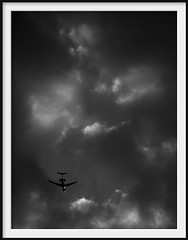vh-fgj (Andrew C Wallace) Tags: jet aircraft flight clouds cloudscape aviation vhfgj ir infrared microfourthirds m43 thephotontrap olympusomdem5 landing reservoir victoria australia