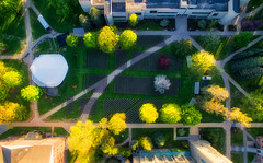 Setting Up for Commencement (Decaseconds) Tags: hdr vertical dji phantom3 quadcopter commencement college university stlawrence canton newyork spring chairs