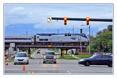 The Amtrak Wolverine Arrives in Jackson, Michigan (sjb4photos) Tags: michigan jacksonmichigan amtrak passengertrain amtrakwolverine