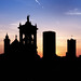 Bergamo Upper Town Towers silhouette