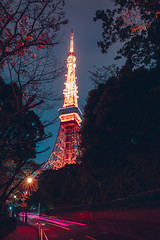 Tokyo tower by night, Tokyo Japan (Patrick Foto ;)) Tags: aerial architecture asia attraction background blue building city cityscape communication construction deck destination district dusk famous high japan japanese landmark light metropolis modern night observation orange paris place red road sky skyline skyscraper street tall tokyo tourism tourist tower trail travel tree twilight urban view ward tokyoprefecture jp