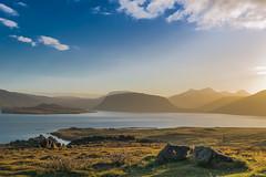 Iceland Saga (marionrosengarten) Tags: iceland sunrise hvalfjördur landscape fjord water walfjord island landschaft sonnenaufgang wolken himmel goldenlight peaceful moody sun nikon sunlight light