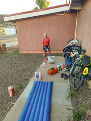 Stealth camping on the Navajo Res. (dsrphotography) Tags: cameron arizona unitedstates surly recumbent 4 corners adventure travel camping bikepacking