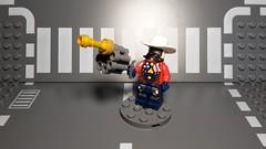 Iron Cop Buffalo Steel (Śląski Hutas) Tags: lego minifig moc bricks police cops guns superhero freedom
