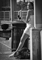 Tennis player (DmitryXT1) Tags: youngwoman tennis player whitecostume brightsun