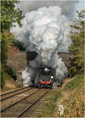 34092. Erupting! (Alan Burkwood) Tags: gcr loughborough sr bulleid 34092 cityofwells steam locomotive passenger train