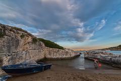 naufrago (Michele Fini) Tags: mare estate naufrago barca scogli cielo nuvole sabbia pesca natura
