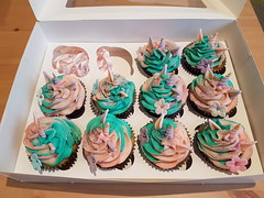 Glittery Unicorn Cupcakes (CharmaineZoe's Marvelous Melange) Tags: cupcakes cake glitter unicorn icing icedcakes frosting party birthday kids childrens