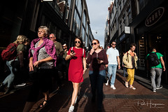 Colorful shopping @ Amsterdam (PaulHoo) Tags: amsterdam city urban citylife people candid streetphotography color vibrant sun summer shadow shopping 2018 nikon d750 ultrawideangle wideangle samyang 14mm
