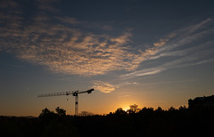 L1000052.jpg (Butters.photo) Tags: switzerland sky crane silhouette clouds dusk basel