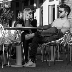 there's a you in my view (every pixel counts) Tags: 2018 café couple city eu street people sunglasses everypixelcounts blackandwhite 11 nrw day germany bw square europa reflection bn fashion style autumn chair düsseldorf