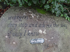 If only I knew (Home Land & Sea) Tags: nz newzealand bayofplenty katikati haiku pathway publicart riverboulders poem barrymorrall sonycybershot dschx100v pointshoot homelandsea