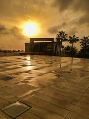 Amanecer desde el Hospital (woto) Tags: vithas xanit benalmádena hospital cielo sun sky málaga spain palmeras amanecer sol reflejos reflections