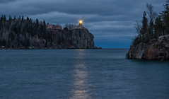 In Memory of... (Paul Domsten) Tags: lakesuperior minnesota edmundfitzgerald sinking pentax lighthouse splitrocklighthouse lake water trees cliff november10th2018 beaconlighting lighthouselighting reflections landscape