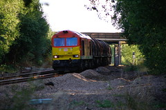 In The Shade... (marcus.45111) Tags: dbc class60 tug steel train railway exbritishrail flickr flickruk ukrailways diesel canonrailwayphotography 2018