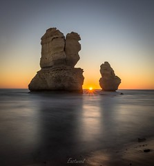 Gog and Magog (Gary Eastwood) Tags: apostles greatoceanroad seascape sunset sunrays longexposures ndfilters nisifilters nikond750 nikon sunflare beach beacheslandscapes sirui