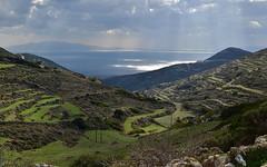 Paros 3 (orientalizing) Tags: aegean coast cyclades desktop featured greece islands landscape mountain mtmarpessos paros seascape terracing