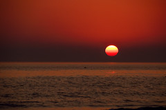 Ball of fire .. (Raquel Borrrero) Tags: classic mar puestadesol sunset classicsunset océano ocean cielo ciel sky playa beach agua sea mer coucherdesoleil red fire seascape rouge rojo