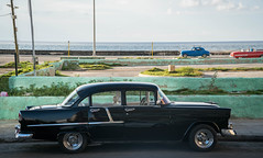 The Malecón - Havana, Cuba (ChrisGoldNY) Tags: chrisgoldphoto chrisgoldny chrisgoldberg cuba cuban caribbean latinamerica licensing forsale cubano bookcover albumcover sony sonyimages sonya7rii sonyalpha havana habana lahavana lahabana city urban street streets architecture iphone buildings malecon cars black classiccars fifties 50s malecón avenidademaceo