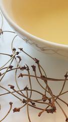 Cherry stalks tea (Marie Kappweiler) Tags: macro closeup color colour farbe indoor tea tee tisane infusion cerises tiges medizin medicine tcm hausmittel remedy