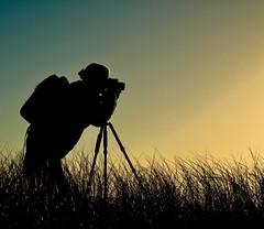 The Dunes at Dawn (tvdflickr) Tags: silhouette photographer tripod person lady camera oregon coast oregoncoast nikon d850