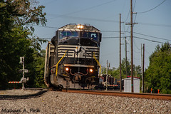 NS 7227 @ Millbury, OH (Michael Polk) Tags: norfolk southern emd sd80mac chicago line ns nyc new york central millbury ohio freight train