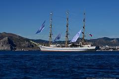 DSC_7583 (yuhansson) Tags: фрегат херсонес море чёрное парусник крым паруса парус корабли корабль путешествие путешествия югансон юрий boat sea sky water vessel ship sailing новыйсвет судак
