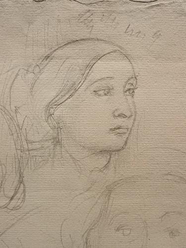 DEGAS Edgar,1858-67 - La Famille Bellelli, Visages et Bras, Etudes (Orsay) - Detail 14