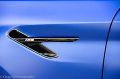 BMW M5 (Osajus) Tags: car sportscar automobiles automotive auto bmw m5 blue vent side gill badge