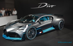 Masterpiece (MANETTINO60) Tags: bugatti divo chiron mondial w16 1500hp molsheim paris front avant carbone wheels roues bleu blue car hyparcar pebble beach matte motorshow exotics limited bugattidivo voiture supercar