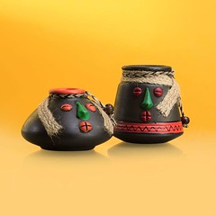 Exclusive Tribal Rustic Flower Pots (mywowstuff) Tags: gifts gift ideas gadgets geeky products men women family home office