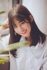 Oh her smile (canhcutnamphi) Tags: portrait smile student natural vietnamese whiteshirt long hair nikon d800