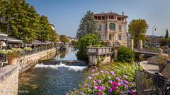 Postcard of L'isle-sur-la-Sorgue, France (Jhopne) Tags: france aug18 river water canonef2470mmf28lusm lislesurlasorge cityscape village canoneos5dmarkii provence vaucluse